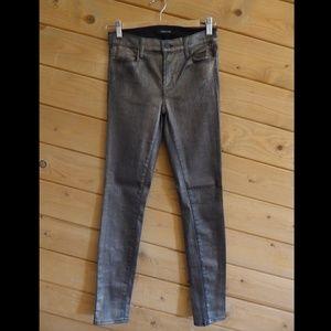 J Brand 27 Super Skinny Slim Gold Dust Jeans